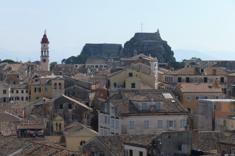 view Corfu city