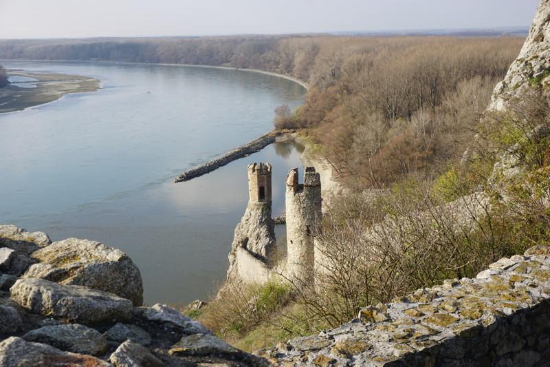 Donau bei der Burg Devín