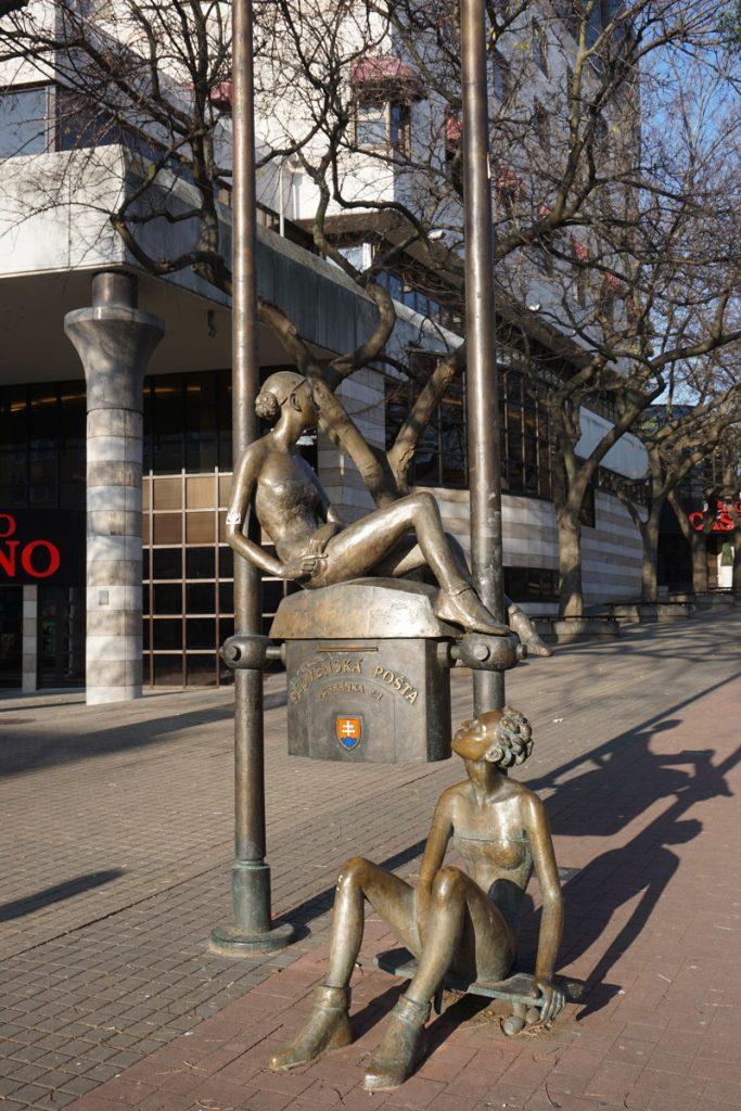 Skulpturen in Bratislava