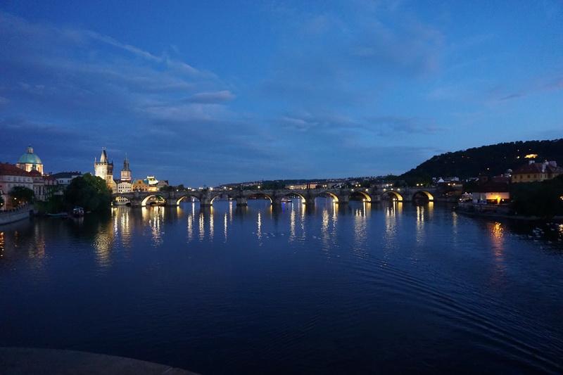 Night shots of Prague