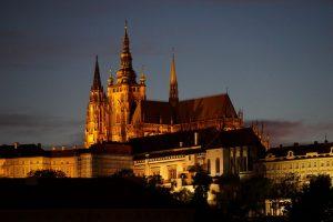 Night shots of Prague St. Vitus Cathedral