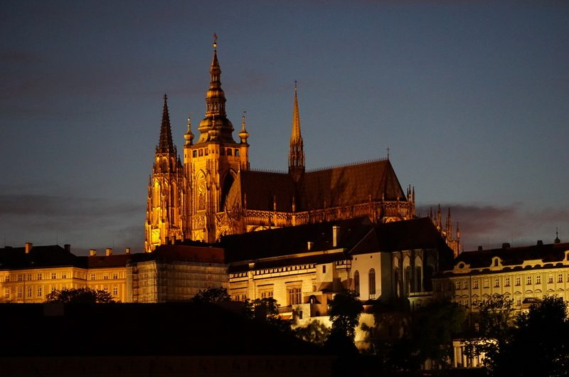 Night shots of Prague St. Vitus Cathedral