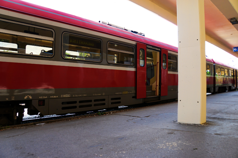 Taking the train from Niš to Belgrade
