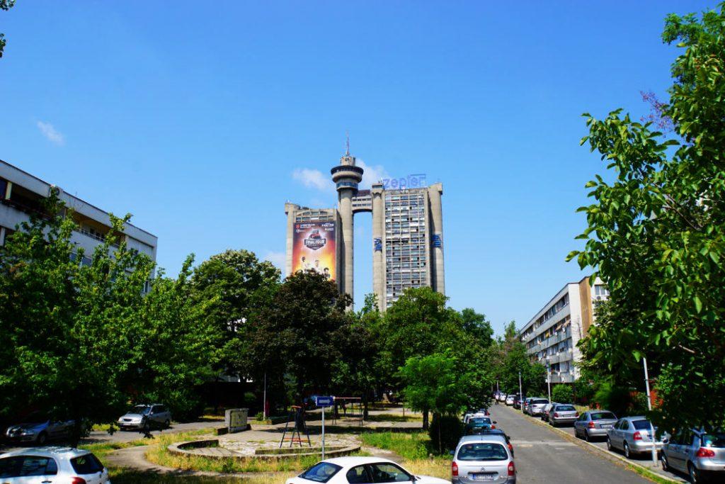 Genex Tower in Belgrade – unmistakable element in the skyline of the district