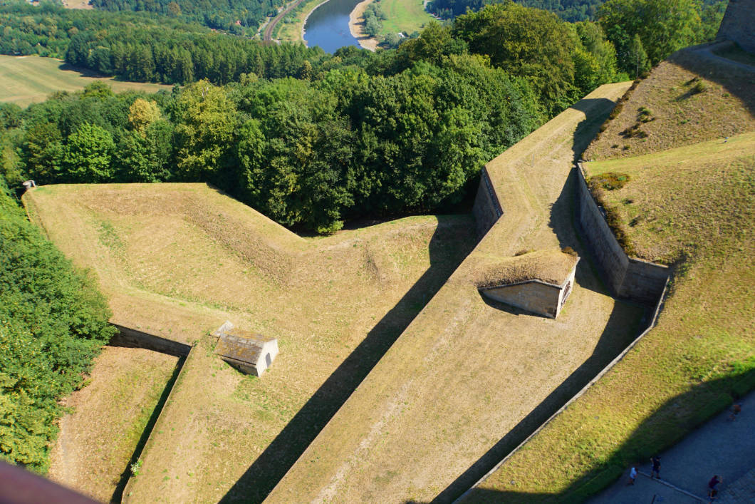 Königstein fortress in the Elbe sandstone highlands