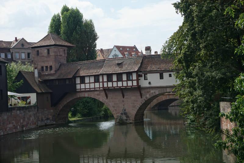 Enchanted bridges in Nürnberg