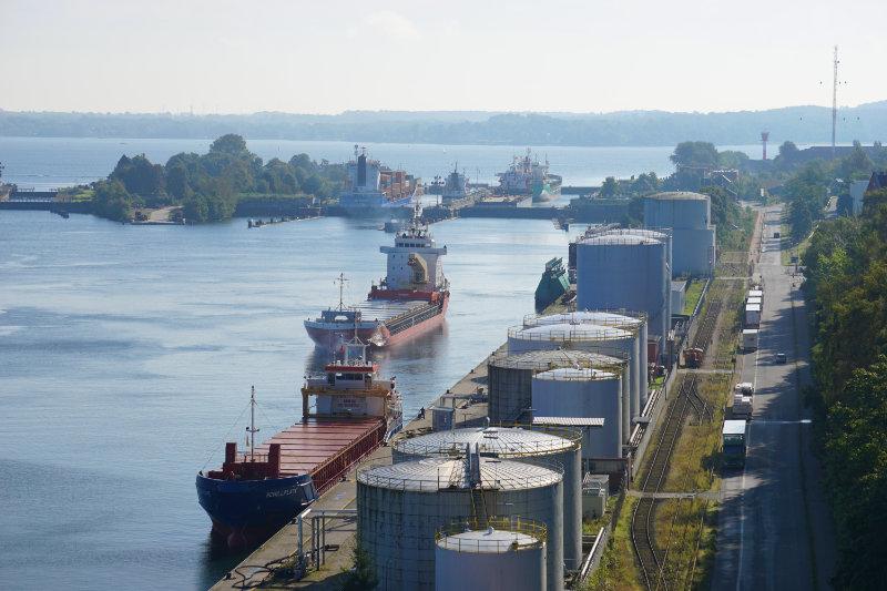 Lockage Kiel-Holtenau in the Kiel Canal