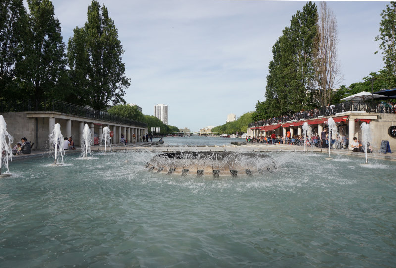 Canal Saint-Martin and Bassin de la Villette