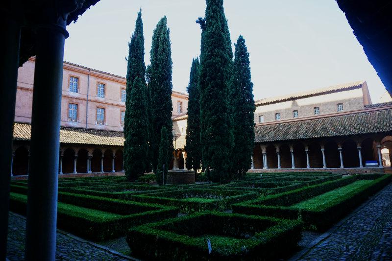 garden in the monastery