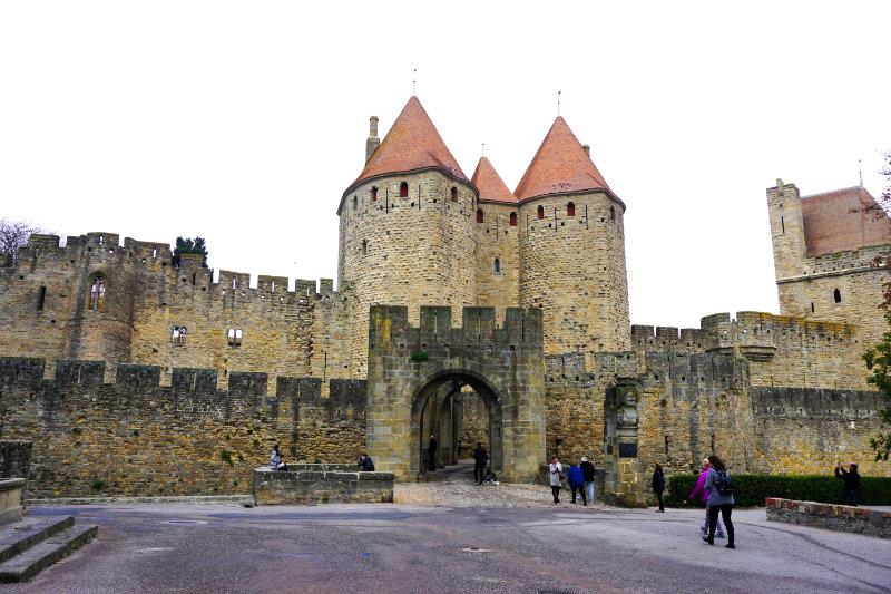 entrance castle carcassonne