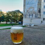 Drinking beer in Plzen