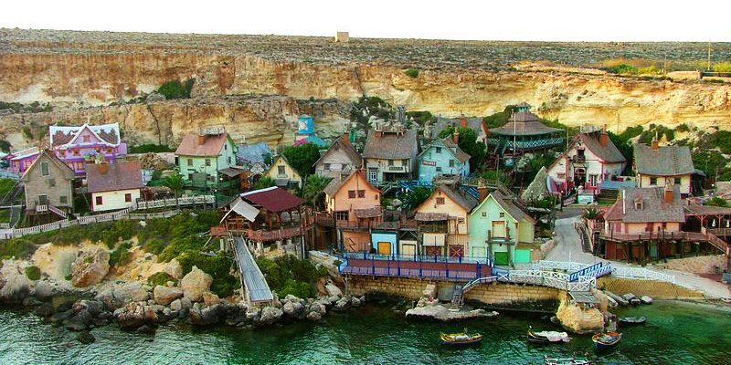Popeye Village - Blick von oben auf das Filmdorf
