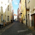 Out and about in the alleys of Regensburg's old town