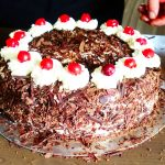 My first time ... I bake a Black Forest Cake in the Black Forest