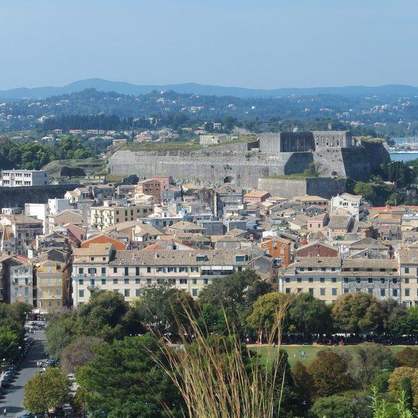 view Corfu city