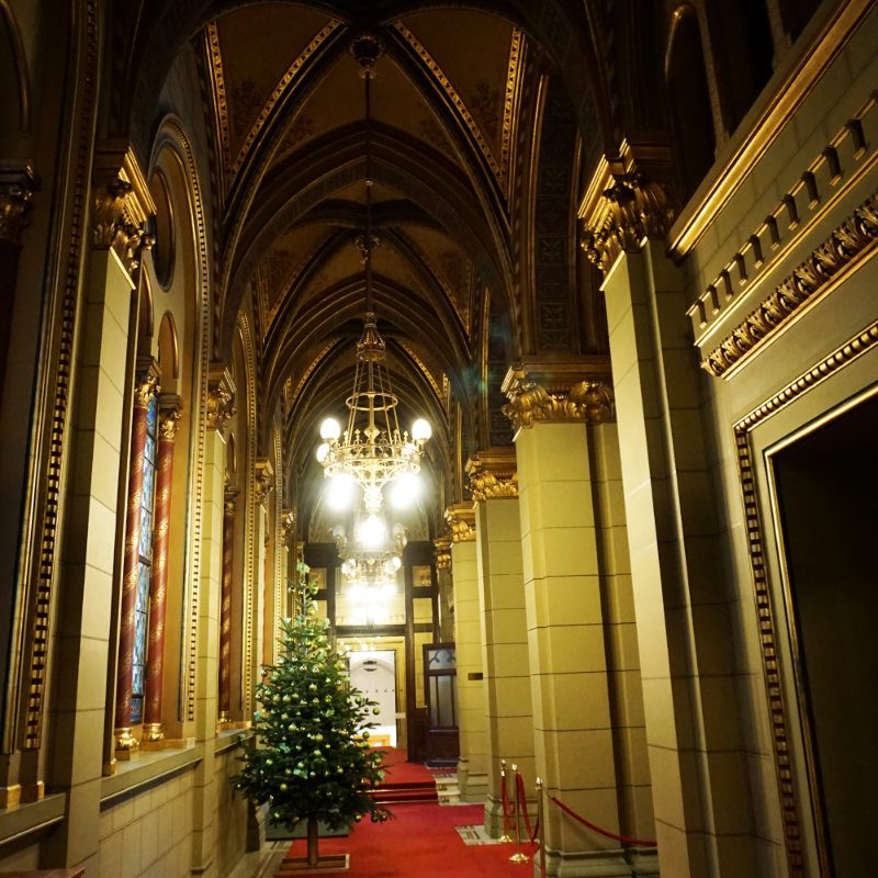 A tour of the parliament building in Budapest